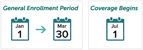 General Enrollment Period Visual Graphic